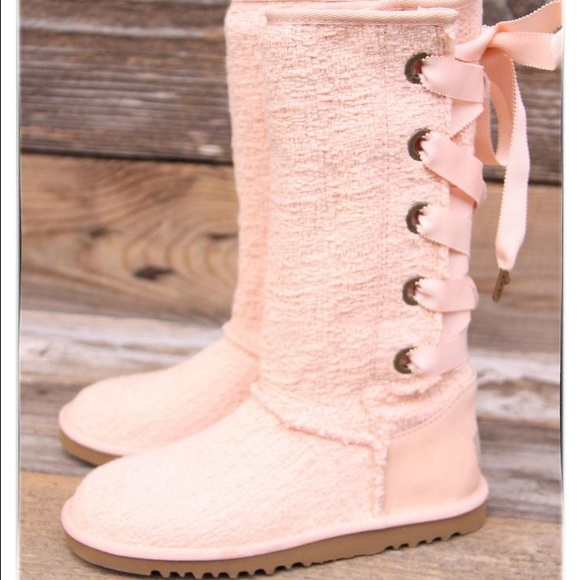 UGG Shoes | New Pink Heirloom Lace Up