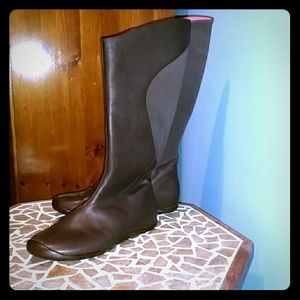 Chocolate and coral Fleece Lined Brown Tsubo Boots