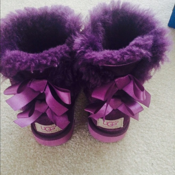 2ab0f0682a5 Authentic Purple Bailey Bow Toddler Uggs Size 10