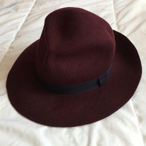 Burgundy Felt Hat