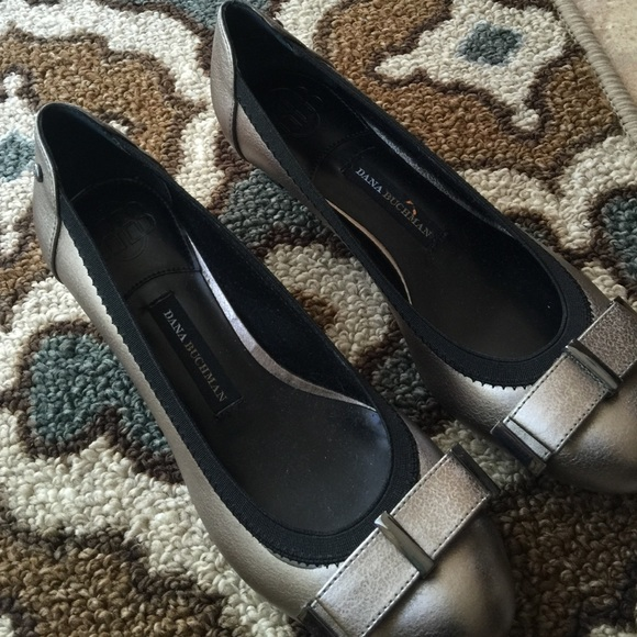Pewter And Black Dress Shoe
