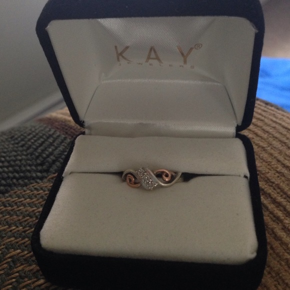 Kay Jewelers Jewelry K Rose Gold And Sterling Silver Diamond Ring Poshmark