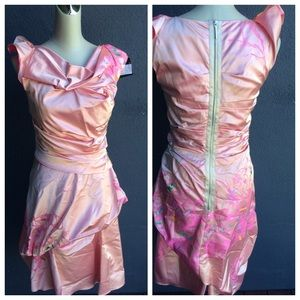 Cotton Candy Pink Painted Dress