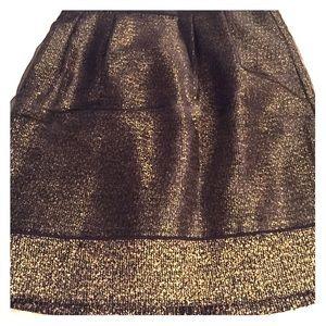Black / gold skirt