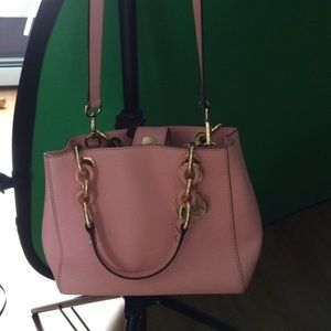 c95a9ef2ead3 ... promo code for michael kors bags cynthia small leather satchel. pale  blush pink a0602 7c6b0