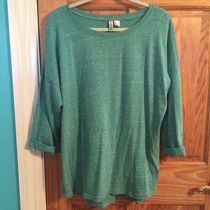 Teal quarter sleeve sweater