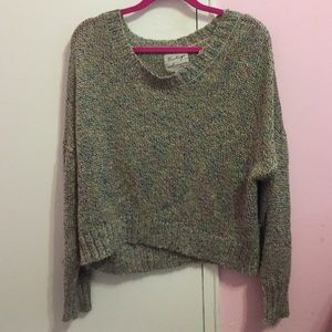 50% off Sweaters - Cable knit wool sweater grey\multi color from Eideann -sug...
