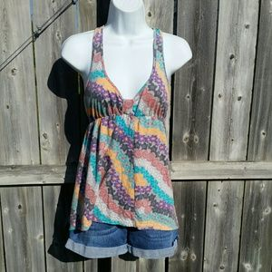 Colorful Floral Boho Tank