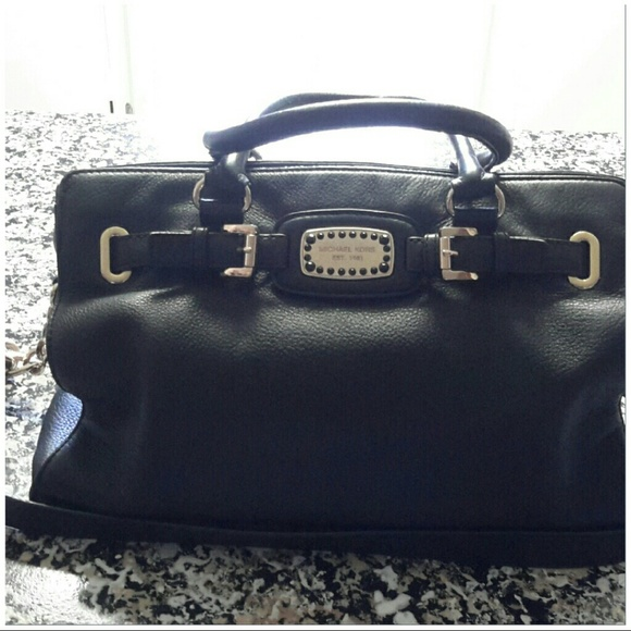 e733ce1babed89 Michael Kors Bags | Black Leather Hamilton Bag | Poshmark