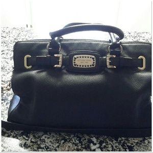 Black leather Michael Kors Hamilton bag