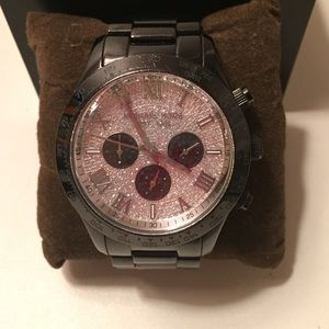 Black Michael Kors watch.