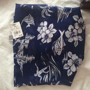 Tropical palm scarf/ beach wrap