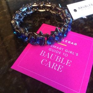 Bauble Bar Jewelry - 💙NWT Bauble Bar blue crystal bracelet💙