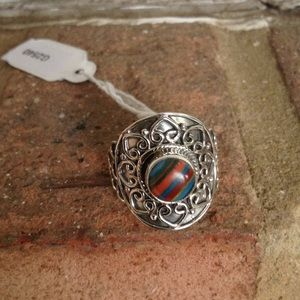 Jewelry - Gorgeous Natural Multicolor Rainbow CASILICA Ring.