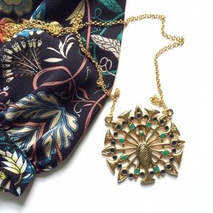 House of Harlow 1960 Jewelry - NWOT House of Harlow Pave Peacock Necklace