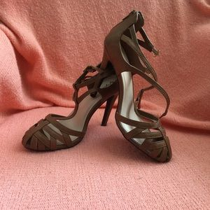 Cognac high heels