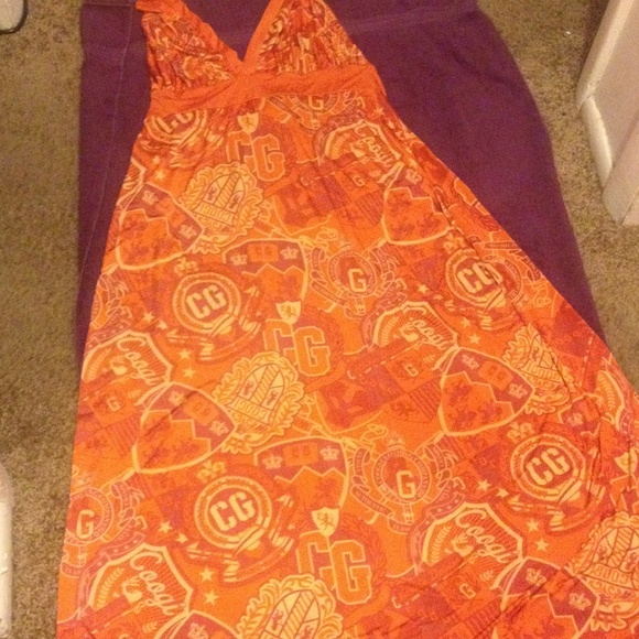 Orange Coogi halter sundress plus size