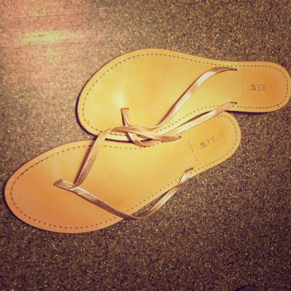 bc906e0bd6d46 J. Crew Shoes - J. Crew Rio Metallic Sandals