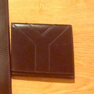 AUTHENTIC YSL BLACK LEATHER WALLET
