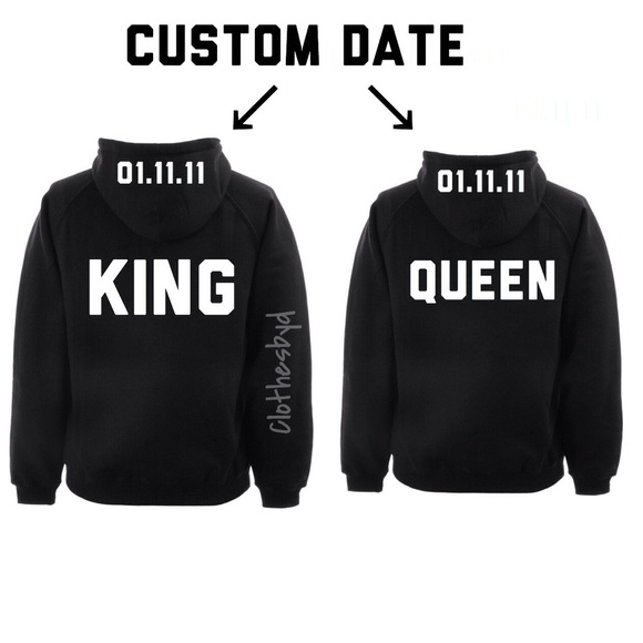 custom king and queen hoodies poshmark. Black Bedroom Furniture Sets. Home Design Ideas