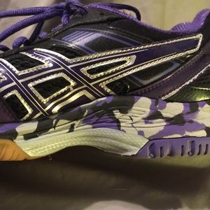 Purple Asics Volleyball Shoes with Camo
