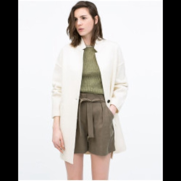 23% off Zara Jackets & Blazers - Zara White Wool Coat from Y's ...
