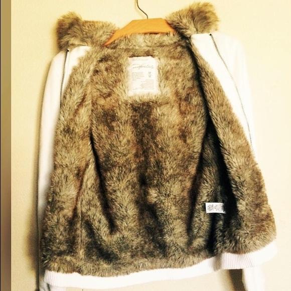 Aeropostale fur lined hoodie