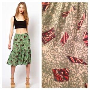 Vena Cava Dresses & Skirts - Viva Vena by Vena Cava tribal tiered skirt size 4