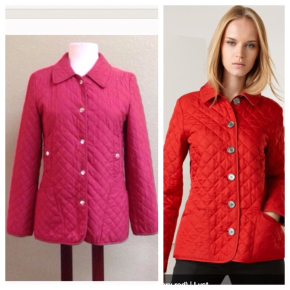 Michael Michael Kors Jackets Blazers Michael Kors Red Quilted