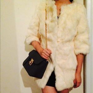 SALE! genuine rabbit fur coat