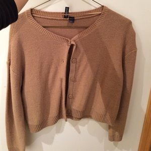 H&M Sweaters - Cropped camel colored cardigan