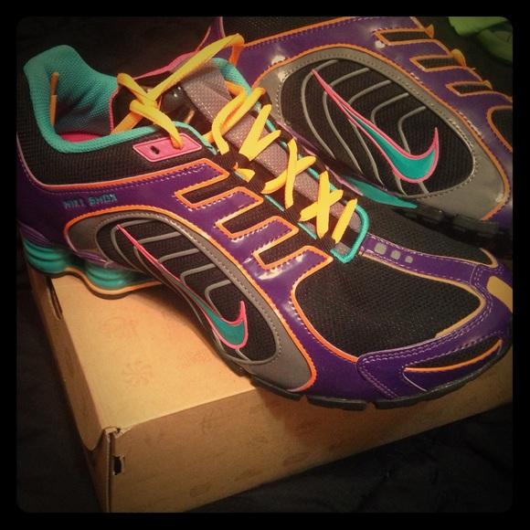 release date: 3dd72 77a55 Nike Shox Navina womens purple orange black. M 55f79a845c12f8bc4001ec1c