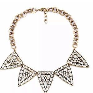 Triangle Crystal Statement Necklace