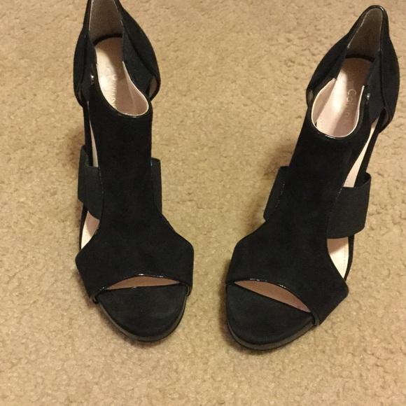 71 2 Black Calvin Klein High Heel Shoes Calvin Klein High Heel Sandals Shoes