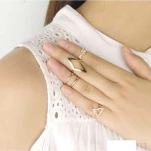 5pcs Midi mid rhinestone knuckle stacking rings
