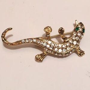 Vintage Gecko Brooch