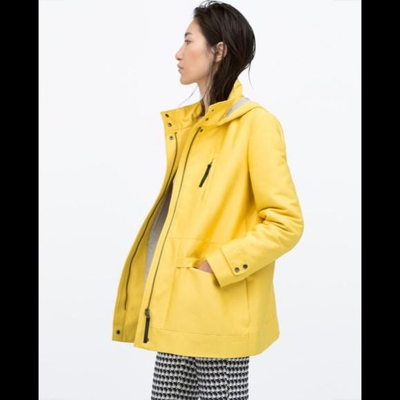 Zara yellow cotton parka