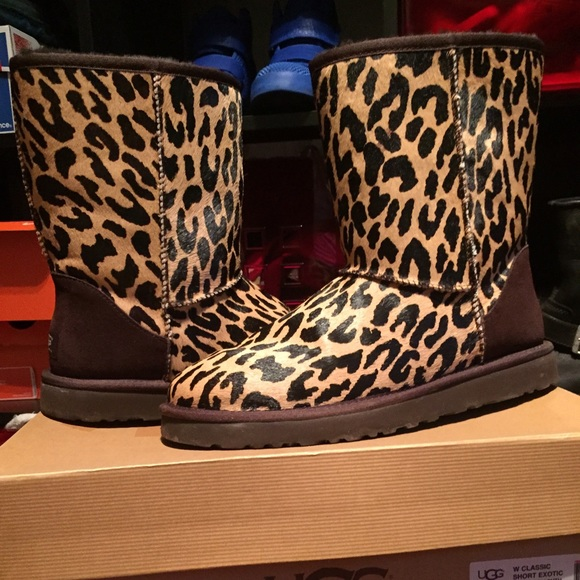 Women size 11 Leopard UGGS low mid calf