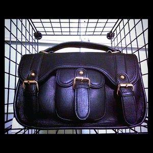 Handbags - SOLD! Black Fashionable Handbag w/Long Strap