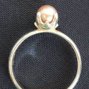 Jewelry - 💕🌺 Pink Pearl & Sterling Solitaire Ring 🌺💕