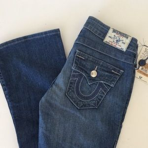 true religion stitch bootcut jeans 26