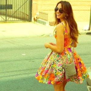 Bright, vibrant, colorful dress!