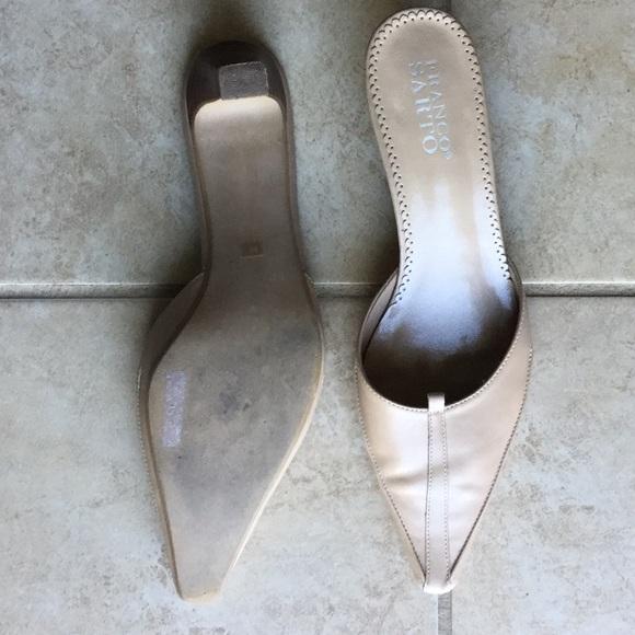 Franco Sarto Shoes - Franco Sarto Nude Mule Heels