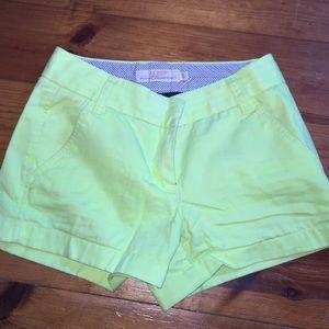 """J.Crew Broken In Chino Shorts 3"""" Bright Yellow"""