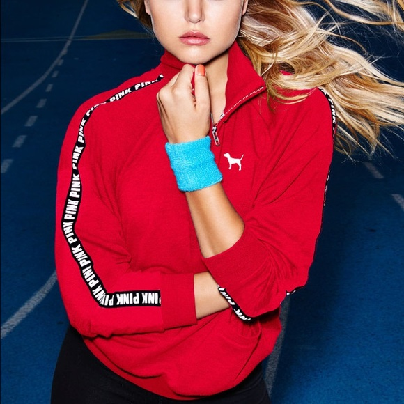 10% off PINK Victoria's Secret Sweaters - VS Pink Red Boyfriend ...
