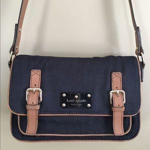 Kate Spade Denim & Leather Scout Crossbody Bag