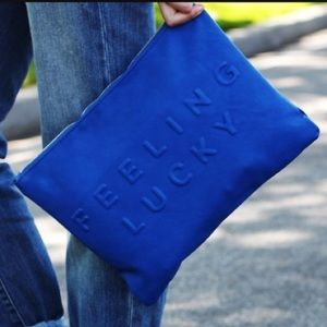 Zara blue clutch