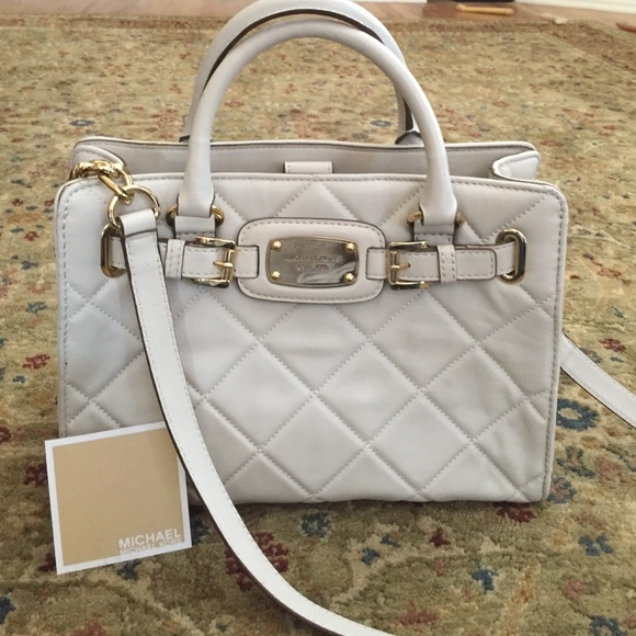 79% off MICHAEL Michael Kors Handbags - Winter white leather ...