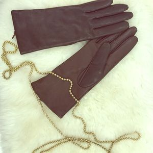 Fownes Accessories - Brown Genuine Leather Gloves