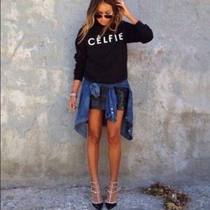 Sincerely Jules Outerwear - Sincerely Jules XS Black celfie sweater